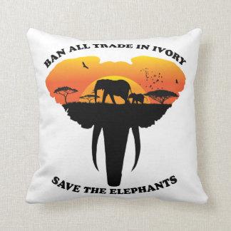 Almofada Travesseiro de comércio do marfim da proibição
