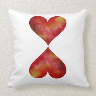 Almofada Travesseiro de dois corações