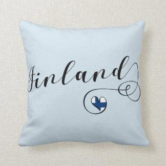 Almofada Travesseiro de Finlandia do coração, finlandês,