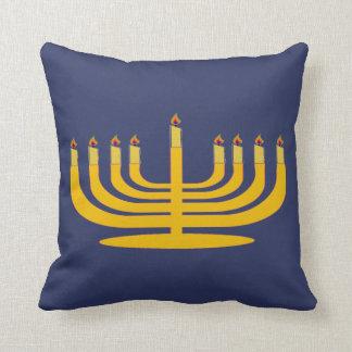 Almofada Travesseiro de Hanuhkkah do castiçal da vela de