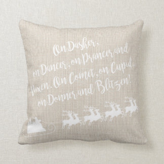 Almofada Travesseiro de linho do Natal da rena do papai