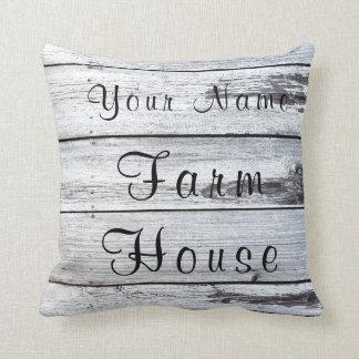 Almofada Travesseiro de madeira do celeiro da casa da