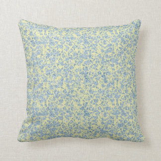Almofada Travesseiro de mármore azul e amarelo