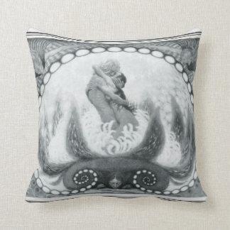 Almofada Travesseiro de Nouveau da arte da flor de Fidus