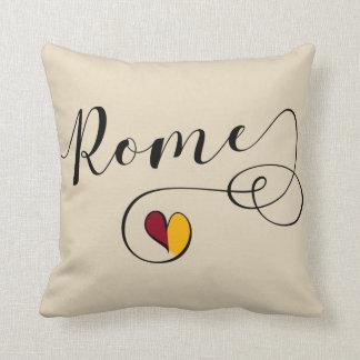 Almofada Travesseiro de Roma do coração, Italia, italiana