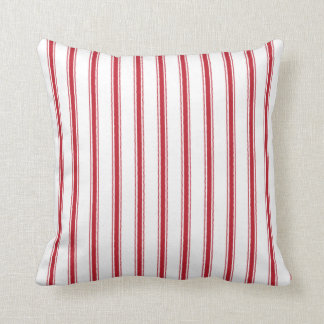 Almofada Travesseiro de tiquetaque da fita do vermelho