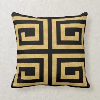 Almofada Travesseiro Decoração-Macio dois do preto do ouro