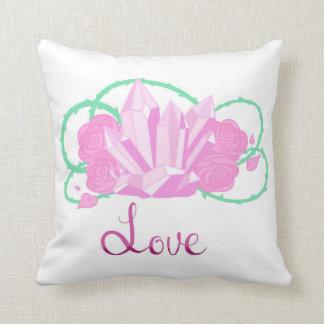"""Almofada Travesseiro decorativo 16"""" de quartzo cor-de-rosa"""