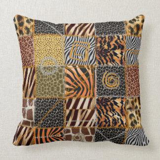 """Almofada Travesseiro decorativo 20"""" dos retalhos do safari"""