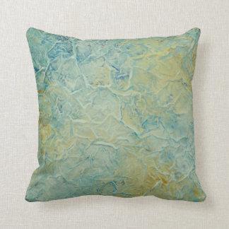 Almofada Travesseiro decorativo abstrato na moda do azul do