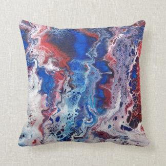 Almofada Travesseiro decorativo abstrato vermelho branco &