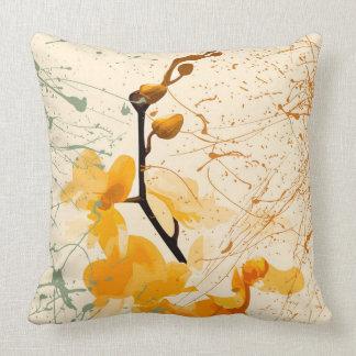 "Almofada Travesseiro decorativo amarelo 20"" da orquídea x"
