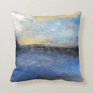 Almofada Travesseiro decorativo amarelo azul da praia