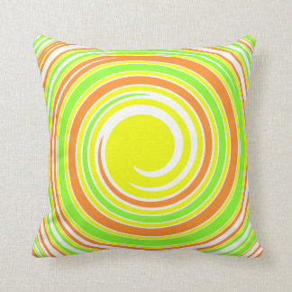 Almofada Travesseiro decorativo amarelo, verde, alaranjado