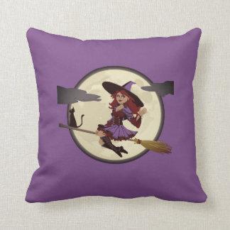 Almofada Travesseiro decorativo amigável feliz da bruxa do
