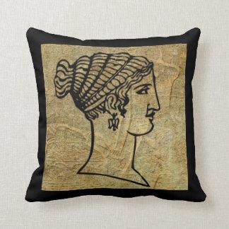 Almofada Travesseiro decorativo antigo grego do rolo da