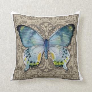 Almofada Travesseiro decorativo azul da borboleta de