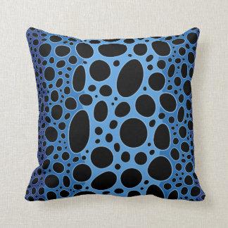 Almofada Travesseiro decorativo azul do impressão do sapo