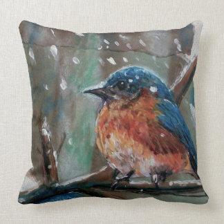 Almofada Travesseiro decorativo azul do pássaro | do
