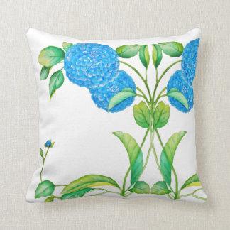 Almofada Travesseiro decorativo azul do vintage do