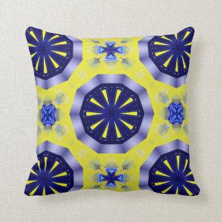 Almofada travesseiro decorativo azul e amarelo do