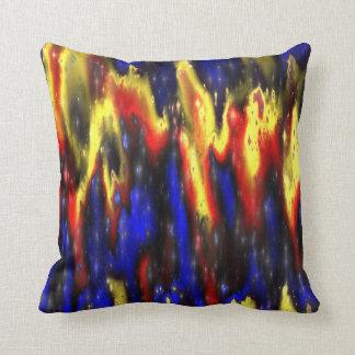 Almofada travesseiro decorativo azul e amarelo vermelho