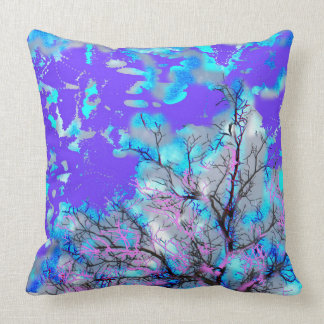 Almofada Travesseiro decorativo azul elétrico
