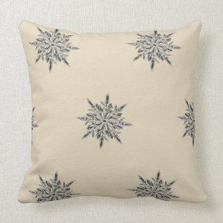 Almofada Travesseiro decorativo bege do floco de neve