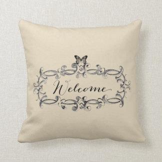 Almofada Travesseiro decorativo bem-vindo do estilo do