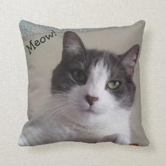 Almofada Travesseiro decorativo bonito da imagem do gato do