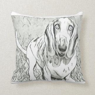 Almofada Travesseiro decorativo bonito de Basset Hound