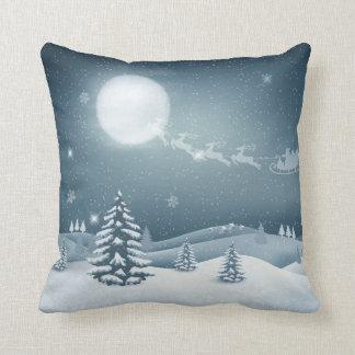 Almofada Travesseiro decorativo bonito do luar do Natal