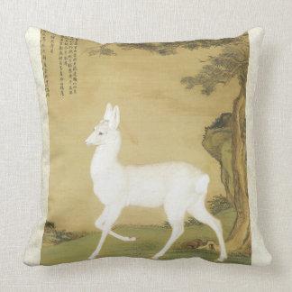 Almofada Travesseiro decorativo branco asiático do animal