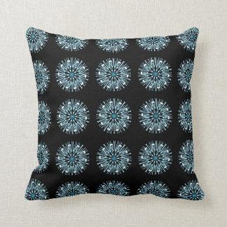 Almofada Travesseiro decorativo branco azul do teste padrão