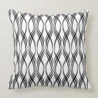 Almofada Travesseiro decorativo branco & cinzento