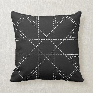 Almofada Travesseiro decorativo branco do teste padrão do