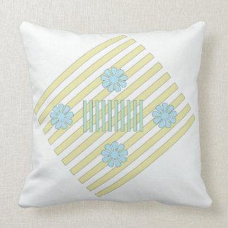 Almofada Travesseiro decorativo branco e azul