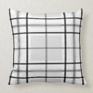 Almofada Travesseiro decorativo branco preto cinzento da