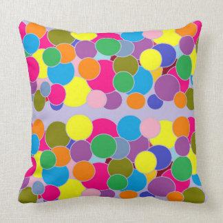 Almofada Travesseiro decorativo colorido do teste padrão