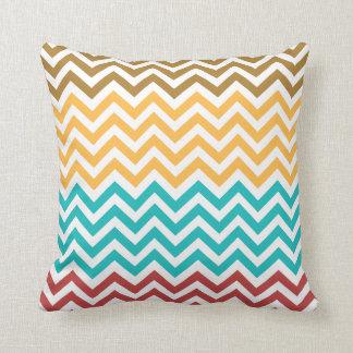 Almofada Travesseiro decorativo colorido do teste padrão de