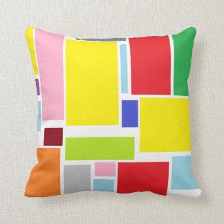 Almofada Travesseiro decorativo colorido dos blocos das