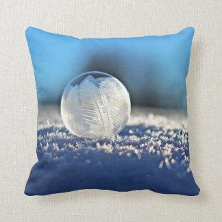 Almofada Travesseiro decorativo congelado da bolha do