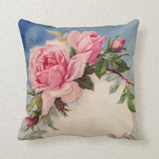 Almofada Travesseiro decorativo cor-de-rosa do vintage