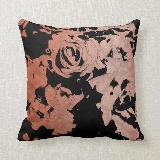 Almofada Travesseiro decorativo cor-de-rosa e preto floral