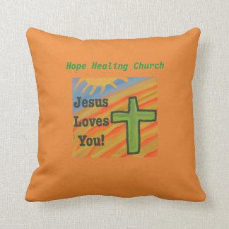 Almofada Travesseiro decorativo cristão de Jesus da igreja