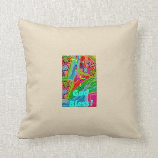 Almofada Travesseiro decorativo cura dos deus abençoe da
