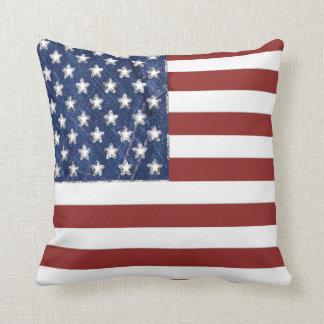 Almofada Travesseiro decorativo da bandeira americana