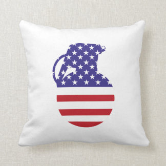 Almofada Travesseiro decorativo da bandeira americana de