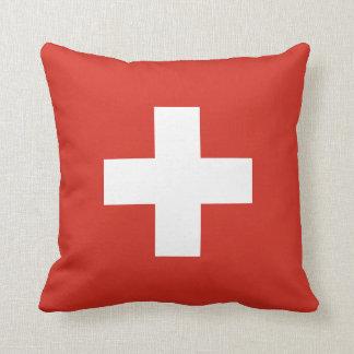 Almofada Travesseiro decorativo da bandeira da suiça