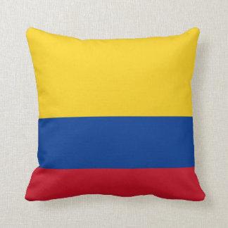 Almofada Travesseiro decorativo da bandeira de Colômbia